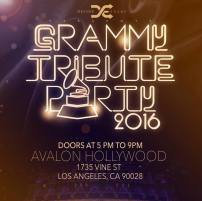 PRE- GRAMMY PARTY - CELEB HOSTS AND GUESTS